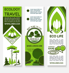ecology travel building business banner template vector image vector image
