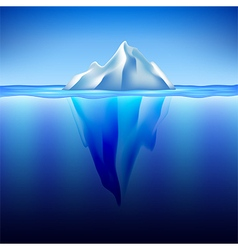 Iceberg in water background vector image vector image