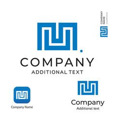 M letter technological modern logo business vector