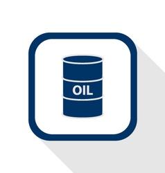 oil barrel flat design icon long shadow vector image vector image