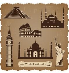 Travel icon set2 sepia silhouettes vector image