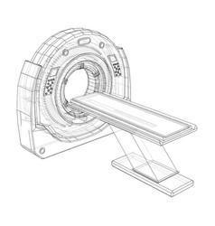 3d a mri machine vector