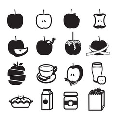 Apple product icons set vector