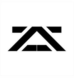 At a initials geometric letter company logo vector