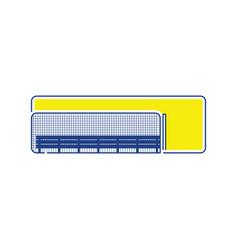 Baseball reserve bench icon vector