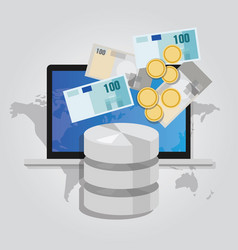 Big data monetization selling database pay with vector