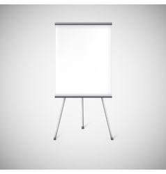 Blank flipchart or advertising stand vector image