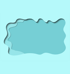 blue abstract landscape 3d background with paper vector image