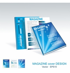 blue brochure design set vector image