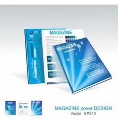 blue brochure design set vector image vector image