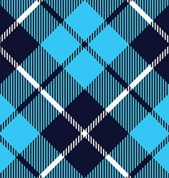 blue tartan fabric texture diagonal pattern vector image