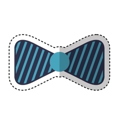 bowtie elegant isolated icon vector image