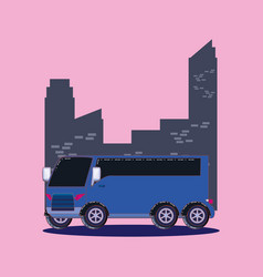 bus at the city design vector image