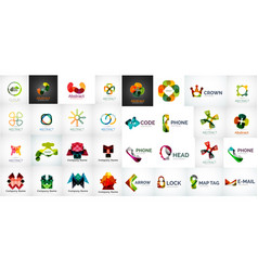 business logo set vector image
