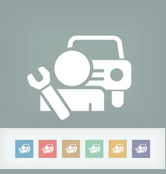 Car assistance icon concept vector