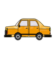 Car side view icon gray automobile vehicle vector