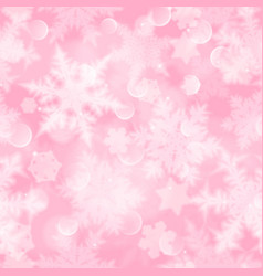 christmas seamless pattern of blurred snowflakes vector image