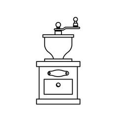 coffee grinder equipment vector image