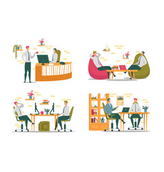 colleagues office working activity and relations vector image