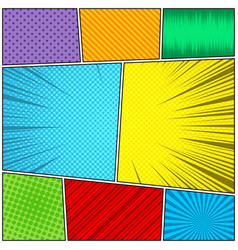 comic book page colorful concept vector image