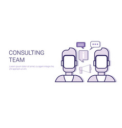 Consulting team technical support service business vector