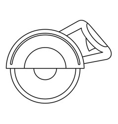 Cut off machine icon outline style vector