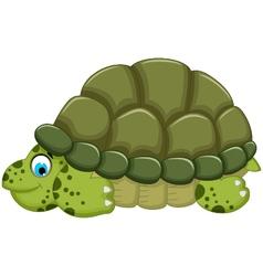 cute turtle cartoon walking vector image