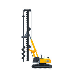Drilling truck construction machinery heavy vector