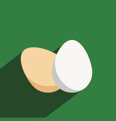 eggs icon in a flat design with long shadow vector image
