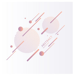 Elegant composition with dynamic and geometric vector