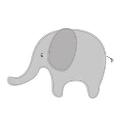 elephant cute tender icon vector image
