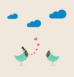 Enamoured bird2 vector