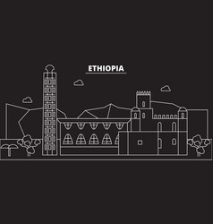 ethiopia silhouette skyline ethiopia city vector image