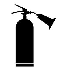 Fire extinguisher the black color icon vector