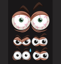 Five set of eyes with different expressions vector