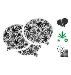 Forum messages composition of marijuana vector