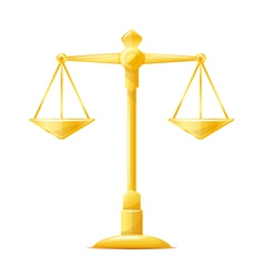 Gold Justice Scales vector
