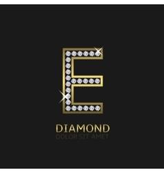 Golden Letter E vector