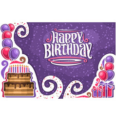 greeting card for happy birthday vector image