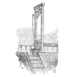 Guillotine vintage vector
