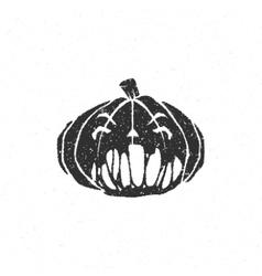 Halloween scary pumpkin face vector