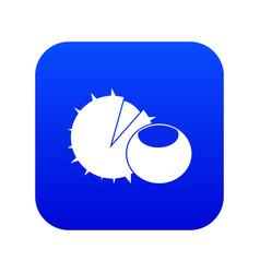 hazelnuts icon digital blue vector image