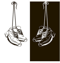 image with shoes vector image