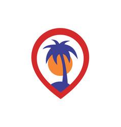 Island location logo icon concept vector