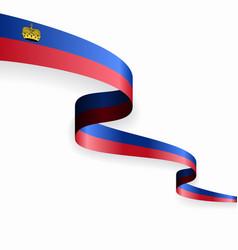 Liechtenstein flag wavy abstract background vector