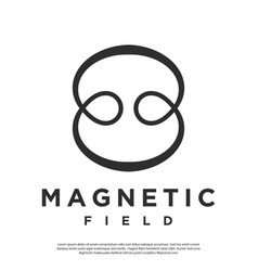 Logo symbol abstract magnetic field vector