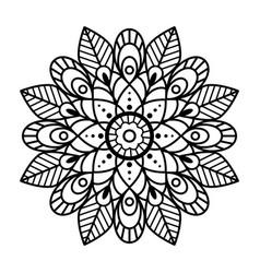 mandala flower silhouette template for laser cut vector image
