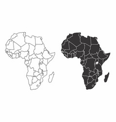 maps of the africa vector image