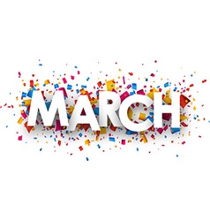 March sign vector