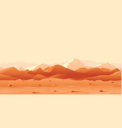 Mars landscape game background vector